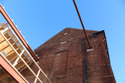 The roof goes onto our project in Retford - copyright RAA LLP